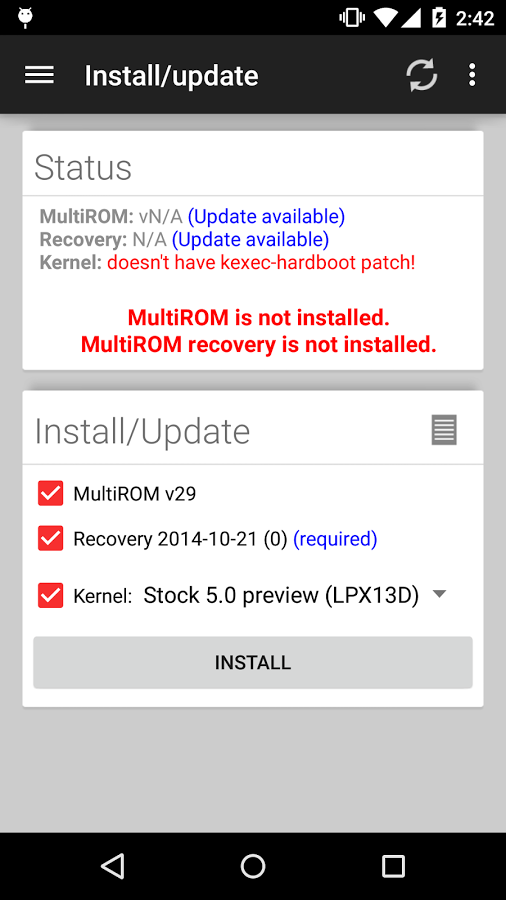 MultiROM Manager