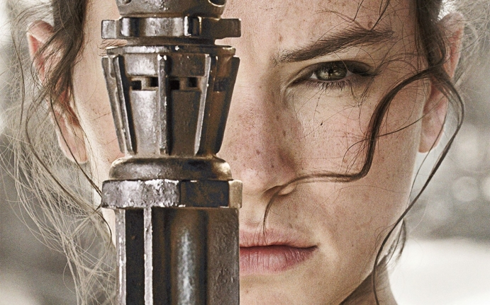 Daisy Ridley as Rey Star Wars the Force Awakens wallpaper